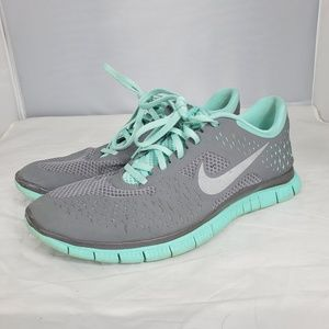 Nike Free 4.0 V2 Athletic Shoes Teal Gray 11.5